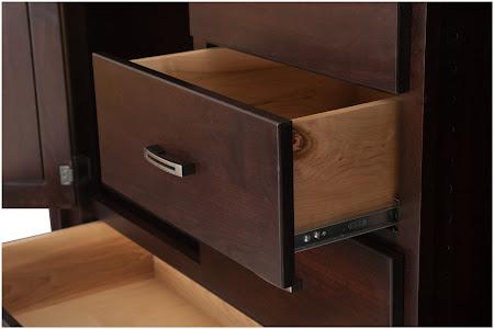"50"" x 50"" Dakota Wardrobe Dresser in Mocha Walnut, Custom Hardware"