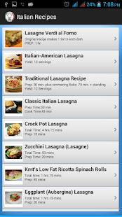 Italian Recipes - screenshot thumbnail