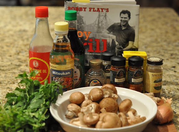 The Mushroom Vinaigrette Ings Include Peanut Oil We Didn T Have Any So Used Canola Instead A Shallot Fresh Ginger Garlic Mushrooms