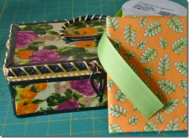 ribbon and fabric