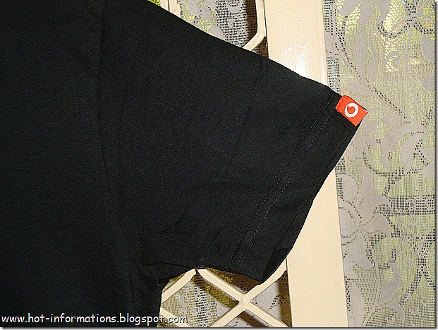 Vodafone tag on t-shirt