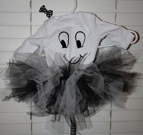 ghost halloween costume with tutu