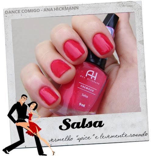 """8c36264f412b9 Eu sou apaixonada por vermelhos e fiquei bem in love por esse vermelho  """"picante"""" e náo comum… o Salsa é um vermelho com um leve fundo rosado, ..."""