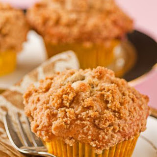 Banana, Almond and White Chocolate Chip Streusel Muffins