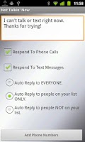 Screenshot of Text(SMS) & Call Auto Reply +