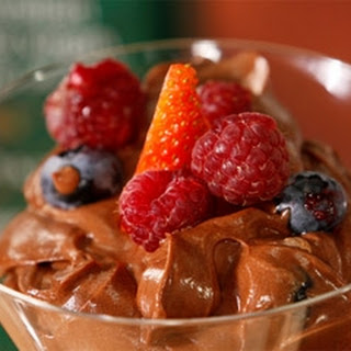 Chocolate Mousse With Fresh Berries.