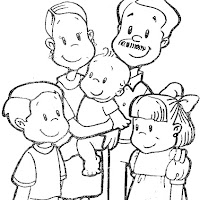 La Familia Dibujos Para Colorear De La Familia