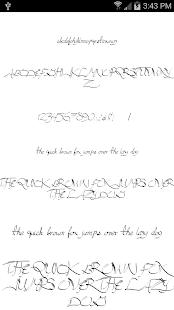 Fonts for FlipFont Script Font 6