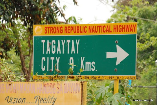 9 kms to Tagaytay City