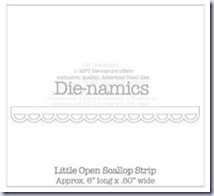 SMLittle Open Scallop Strip Die-namics