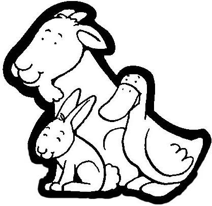 PORTAL DE BELEN PARA COLOREAR: OVEJAS CERDOS GALLINAS Y OTROS ANIMALES