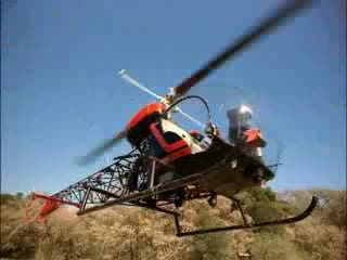 Bell 47 in action