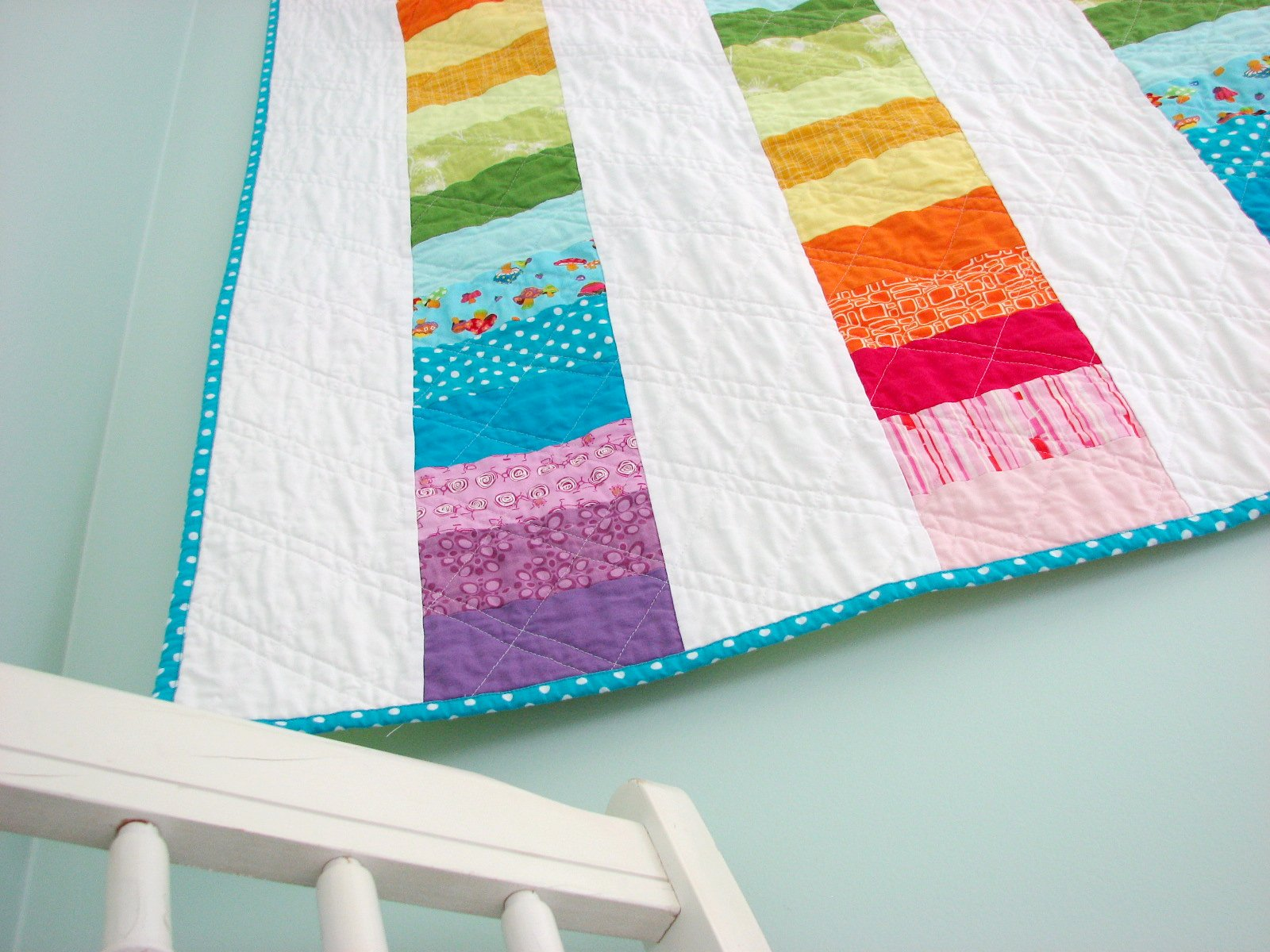 Happy Modern Quilts: An Evolved Rainbow Quilt - photo#23
