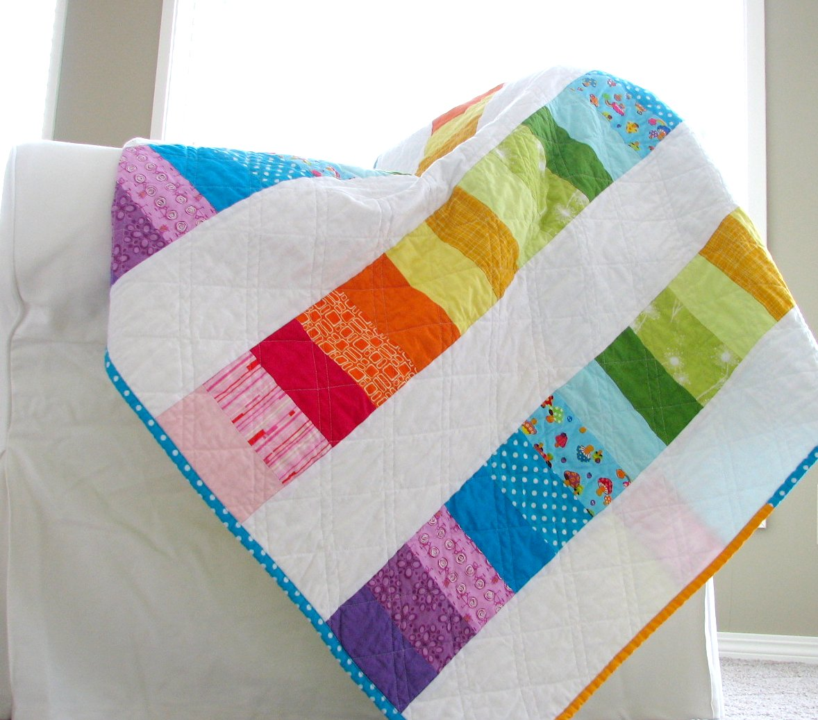 Happy Modern Quilts: An Evolved Rainbow Quilt - photo#20
