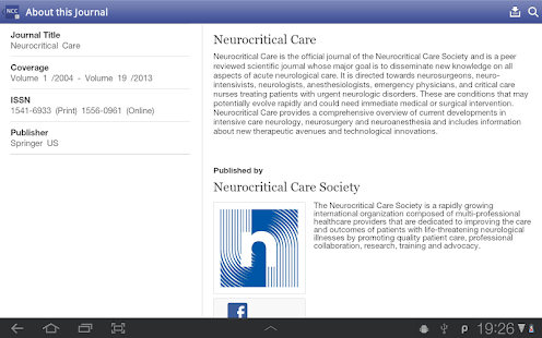 Neurocritical Care- screenshot thumbnail