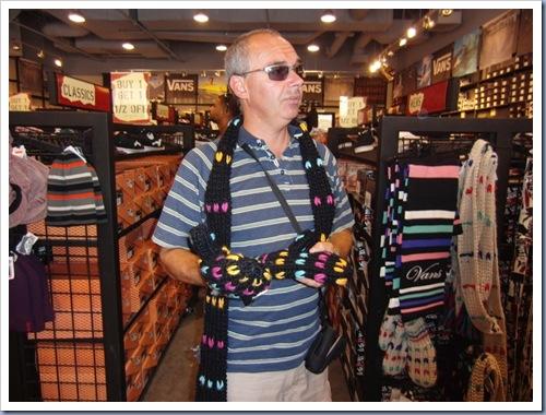 Nieuwe sjaal en Handshoes