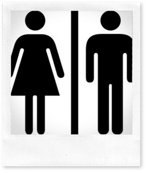 boy girl restroom sign