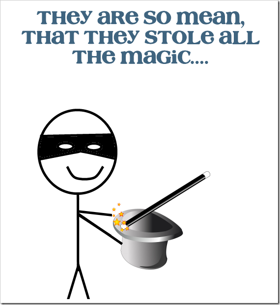 they stole all the magic