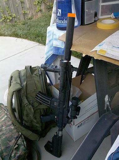 Airsoft Guns, VFC HK416 CQB, Custom Mock Suppressor, Custom Airsoft AEG Guns, Pyramyd Air