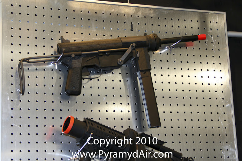 Airsoft Guns, ICS, Shot Show 2011 News Updates, Shot Show 2011 ICS Booth, ICS M3 Grease Gun,Airsoft AEG, Automatic Electric Gun,Pyramyd Air, Pyramyd Airsoft Blog, Airsoft Obsessed, Airsoft Blog