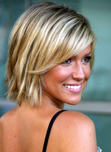 Kristin Cavallari Layered shaggy bob hairstyle for women