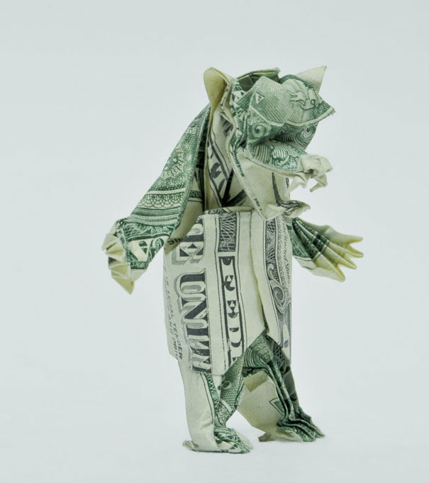 How to Make a Crafty Origami Bunny Out of Cash | 681x605