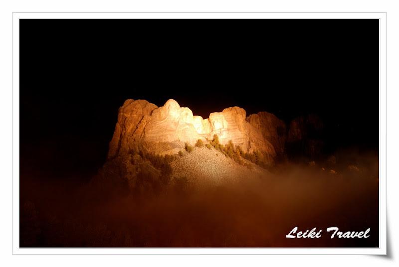 Mount Rushmore 總統石像夜景
