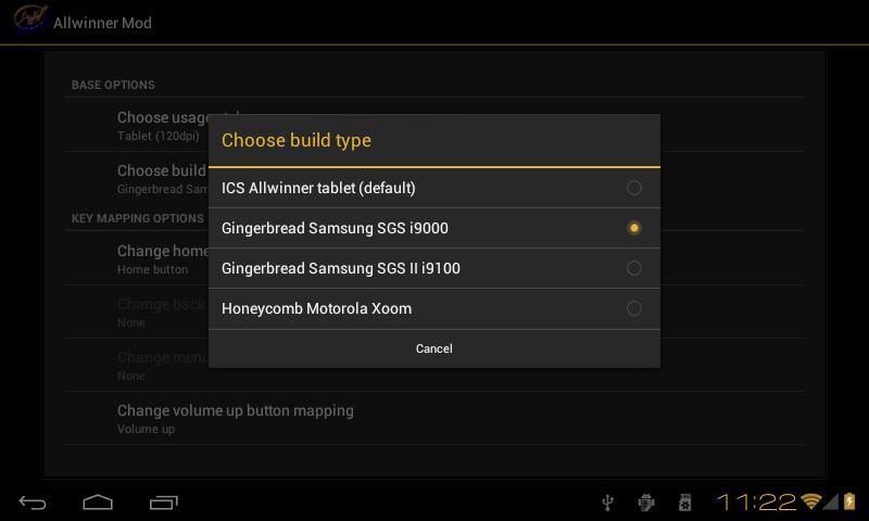 Allwinner Mod- screenshot
