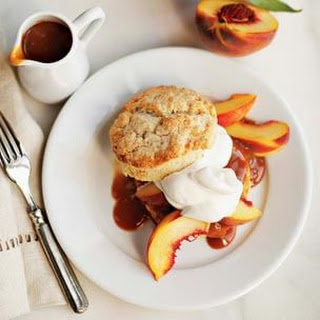 Fresh Peach & Candied Ginger Shortcakes