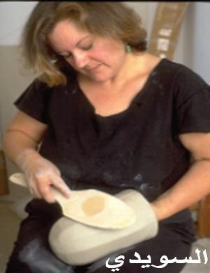 الخزف خطوات تعليميه مع الفنانه Kristin Doner