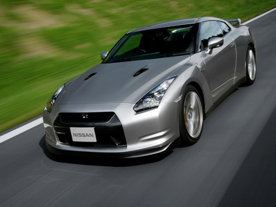 Supercar Nissan GT-R in a luxury variant