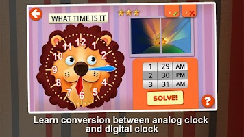 Screenshot of Interactive Telling Time HD