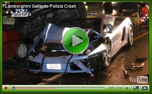 Авария полицейской Lamborghini Gallardo