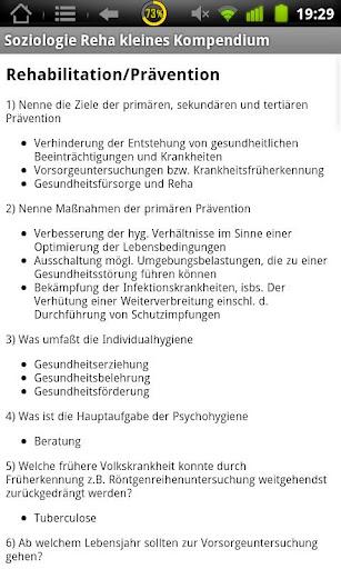Physiokomp Soziologie Reha