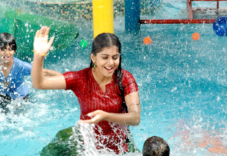 Better Health Better Life Cute Indian Girl In Swimming Pool