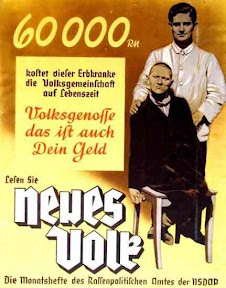 Aktion T4: Vidas dignas de ser vividas. Cartel de propaganda nazi.