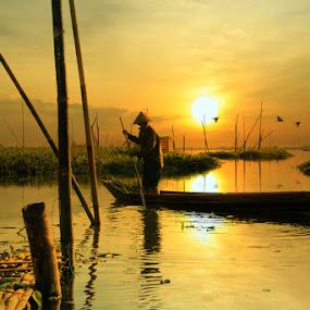 As the sun began to shine by Ymmot Davinci - Landscapes Sunsets & Sunrises