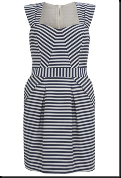 warehouse stripe shift dress