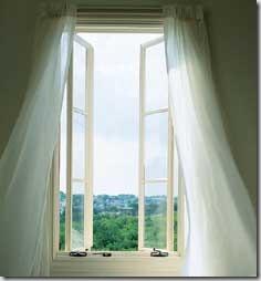 French swinging windows