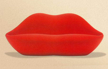 the iconic bocca sofa was designed in 1970 and remains an eye catcher to this day it is a tribute to salvador dalis mae west lips sofa designer gufram