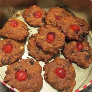 Delicious Whole Wheat Fruitcake Cookies.