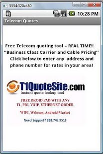 Free Telecom Quoting Tool - screenshot thumbnail