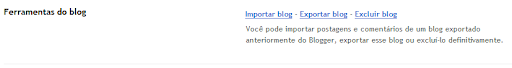 Ferramentas do blog