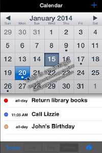 Goo Calendar screenshot 1