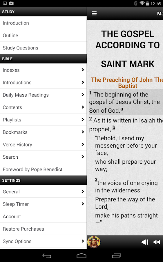 Truth & Life RSV-CE Bible - screenshot