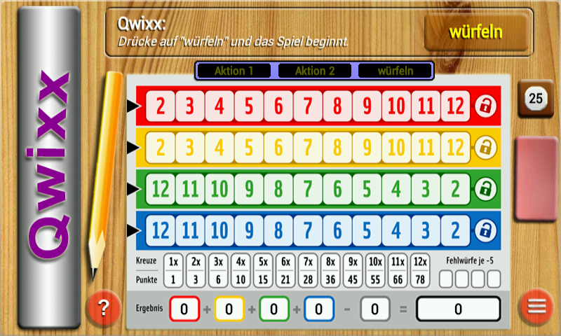 Qwixx Solo - screenshot