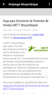 Emprego Moçambique - náhled