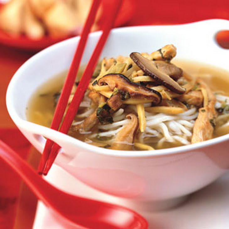 Pork and Noodle Soup with Shiitake and Snow Cabbage Recipe