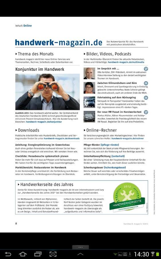 handwerk magazin - screenshot