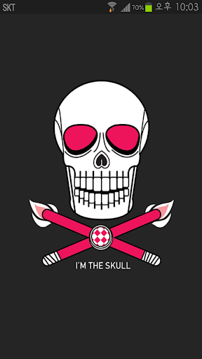 Dark Grey Pink Skull Theme